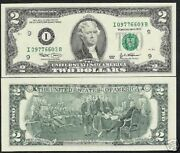 Usa United States 2 Dollar P516 2003 10 Pcs Note Jefferson Independence Painting