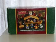 Nib Fisher Price Little People Deluxe Christmas Story Nativity Set Light And Sound