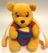 Vintage Winnie The Pooh Plush Back Pack Honey Pot Compartment Rare Collectible