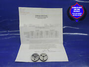 Certified M8 X 1.25 4h 5h Thread Ring Gages 8.0 Go No Go Pds= 7.188 And 7.113 4h5h