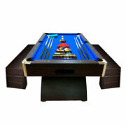8and039 Feet Billiard Pool Table Full Accessories Game Bellagio Blue 8ft With Benches