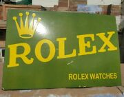 1930and039s Old Antique Rare Rolex Watches Ad. Porcelain Enamel Sign Collectible