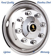 19.5 Hino 258alp 8 Lug Stainless Steel Wheel Simulator Front Rim Hubcap Cover Andcopy