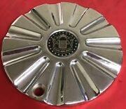 One Used Player Wire Wheels 7 3/4 Inches Chrome Wheel Rim Center Cap 5506