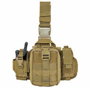 Condor Leg Pouch Emt Tactical Radio Pouch Military Molle Coyote Brown