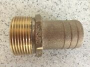 Pipe Hose Adapter Barb Cast Bronze 34 Pth1500 Groco 1-1/2 Pipe 1-1/2 Hose Boat