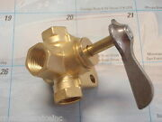 Fuel Tank Selector Valve 3/8 Thread 18-1656 3 Way Valve With Detent Brass Boat