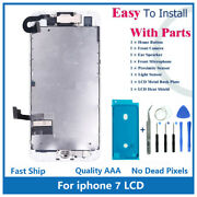 Iphone 7 4.7 Full Screen Replacement Lcd Front Camera Speaker Home Button Kit