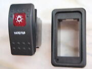 Hardtop Light Switch With Vms Panel Carling V1d1 1 Red Lens Black Contura Ii
