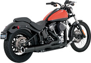 Vance And Hines Pro Pipe Exhaust System For 2012-17 Harley Softail - Black - 47527