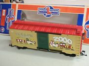 Lionel 8-87018 G Scale Holiday Wishes Christmas 2000 Box Car 2000 Large Scale