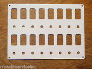 Switch Panel White Psbc82wh Fits 16 Carling V-series Switch Bases And Breakers