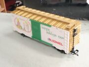 Lionel 87007 Large G Scale Christmas 1990 White Boxcar Happy Holidays Candles