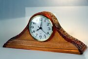 Mckee Daisy And Button Tambour Depression Glass Shelf Clock - Reduced To 115