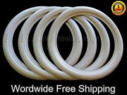 15 Vintage American Tire Style 1.5 Side Wall Oval Rubber White Wall Trims 4pcs