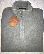 Loro Piana Сashmere Jacket Sweater 1/4-zip Pullover Gray Size Xxl Made In Italy