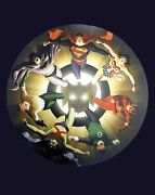 Vintage Silver Age Justice League Poster By Alex Ross 2004 Full Size Poster