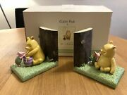 Extremely Rare Walt Disney Winnie The Pooh Classic Figurine Bookends Statue Set