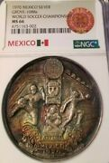1970 Mexico Silver Grove 1088a World Soccer Championship Ngc Ms 66 Very Scarce