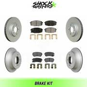 Front And Rear Semi Metalic Brake Pads And G-coated Rotor Kit For 2012 Kia Forte5