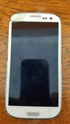 Samsung Galaxy S3 Sgh-t999 Tmobile White Smartphone Broken For Parts Only Read