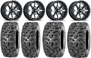 Itp Cyclone 14 Wheels Machined 26 Bear Claw Htr Tires Yamaha Grizzly Rhino