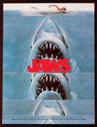 Jaws Spielberg Shark Horror Vintage 1975 Soundtrack Poster Near Mint Rolled