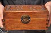 Antique Old China Huanghuali Wood Eight Treasures Jewelry Box Storage Box Boxes