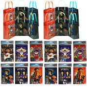 12 Sets Coco Disney Pixar Birthday Party Supply Favor Gift Bags W/ Coloring Book