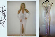 Ginger Lynn Allen Sexy Stage Worn Costume Wardrobe W/signed Picture Wearing Coa
