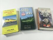 Trains Set Of 3 Vhs Union Pacific 6900s, Union Pacific E9s And Southern Pacific