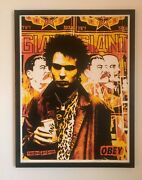 Shepard Fairey Obey Sid Vicious Red Print Signed 18x24 Sex Pistols
