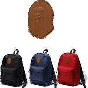 A Bathing Ape Nylon Surface Backpack Ape Head Day Pack Fast Shipping Japan Ems