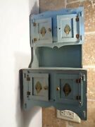 Vintage 1930s Child Cupboard Or Hutch Paper Products Co. O-joy Toy Dubuque Iowa