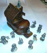 Hudson Pewter There Was An Old Woman Who Lived In A Shoe Very Rare Complete