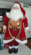 Life Size Deluxe Members Mark Santa Claus Tall Over 6and039