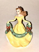 Disney Grolier 2008 Porcelain Christmas Ornament Belle Beauty And The Beast Dated