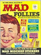 1965 Ec Publications A Collection Of Mad Follies Annual 3 Stamps Insert Intact