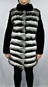 New Exclusive Chinchilla Black Mink Coat Top Quality All Sizes Available