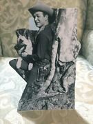Roy Rogers And Bullet Western Figure Tabletop Display Standee 9 Tall
