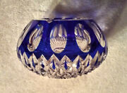 Murano Faceted Glass Ashtray, Royal Blue, 1955-1959. Flawless, Stunning