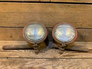 Farmall 300 350 400 450 Tractor Pair 2 Original Front Ih Lights Utility Part Old