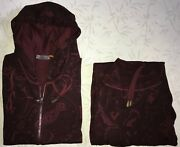 Etro Tracksuits Cashmere Burgundy Bordo Vinous Sport Suit Xxl Made In Italy