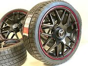 """19"""" 19 Inch New Mercedes-benz Amg Red Line Amg Replica Wheels Rims C E S Class S"""