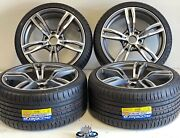 19x8.5 9.5 Fit Bmw 3-4-5-6-7 M6 Sport M-style Rims Tires Wheels Machined Gry