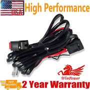 Wiring Harness Kit 40a 12v Led Work Light Bar On/off Rocker Switch Relay Cable