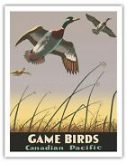 Game Birds - Canadian Pacific - Thomas Hall 1941 Vintage Travel Poster Art Print