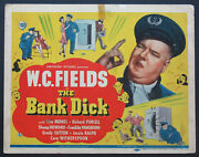 The Bank Dick W.c. Fields 1940 Title Card