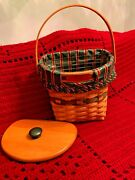 1998 Glad Tidings Longaberger Basket.....new Liner And New Lid In Factory Box