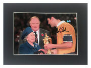 Signed John Eales Photo Display - Rugby World Cup Historic Queen Moment +coa